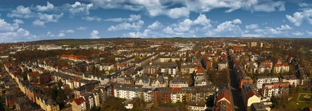 Zwickau aerial view old town germany