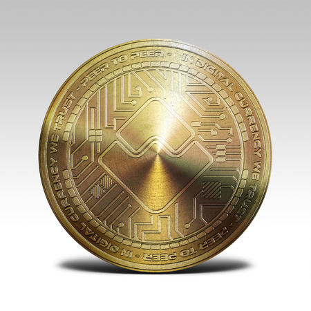 golden waves coin isolated on white background 3d rendering