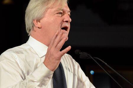 GERMANY, LEIPZIG - NOVEMBER 25, 2017: Jürgen Elsässer, Compact Konferenz