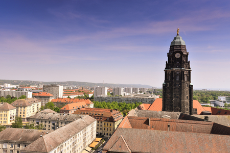 Panorama of the city skyline at in Dresden, Saxony, Germany, Europe. Foto de archivo