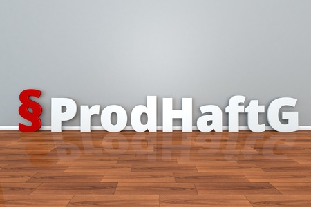 German Law ProdHaftG abbreviation for Law on liability for defective products 3d illustration