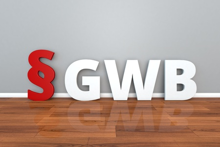 German Law GWB abbreviation for Act against Restraints of Competition 3d illustration