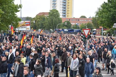Chemnitz, Germany - September 01, 2018: Afd demonstration Trauermarsch