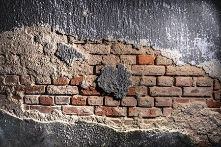 Red brick wall texture concrete background structure surface