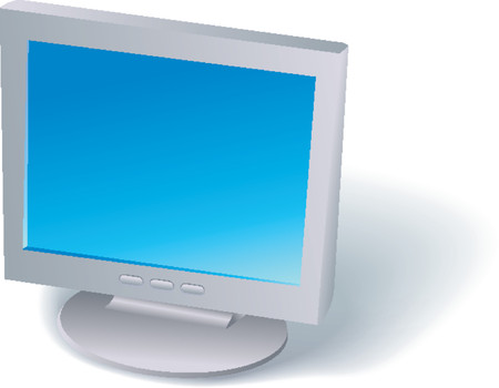 lcd: LCD-monitor Stock Illustratie