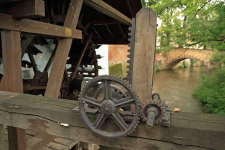 watermill: Old cogwheels of a water-mill