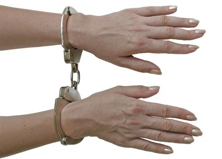 Handcuffs locked. Stock Photo - 1979302