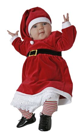 A baby dressed as a gnome. Stock Photo - 1979322
