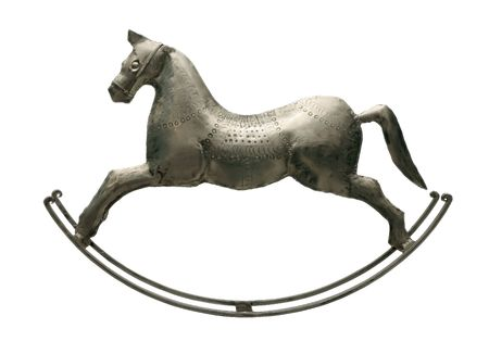 rocking horse: An antique toy. The rocking-horse.