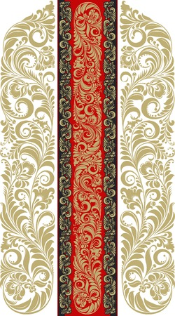 Floral pattern in the traditional Russian style. Vector