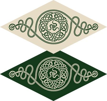 irland: Vektor-Muster, die mit keltischen ornamentale Elemente und das Vorzeichen von twisted Schlangen.