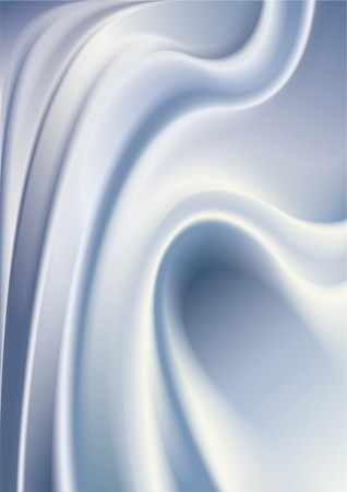 Abstract milky cream surface with waves and curves. Vector