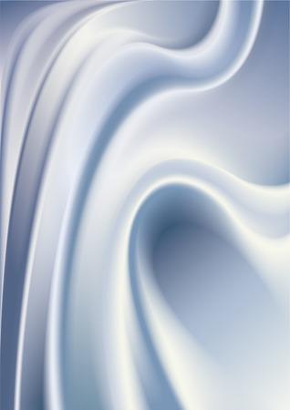 Resumen lechoso crema con ondas de superficie y curvas.