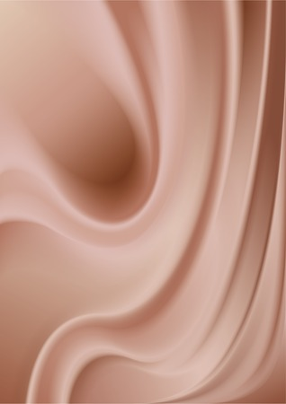 fluctuation: Abstract milkncoffee cream surface with waves and curves. Illustration