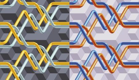 kunststoff rohr: Abstrakt durchgedreht Venen (Rohre). Geometrische nahtlose Muster.