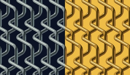 Chainlink fence. Geometric seamless pattern. Vector