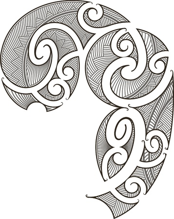 tattoo traditional: Maori stile di design del tatuaggio in forma per un uomo