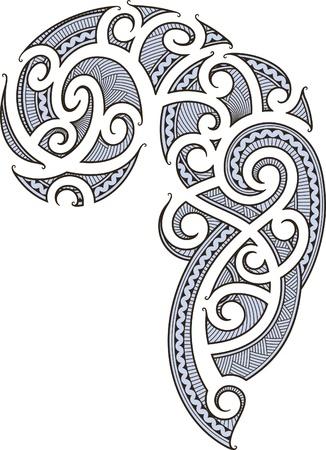 人のために設計されたマオリ スタイルのタトゥー  イラスト・ベクター素材