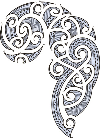Maori style tattoo designed for a man Иллюстрация