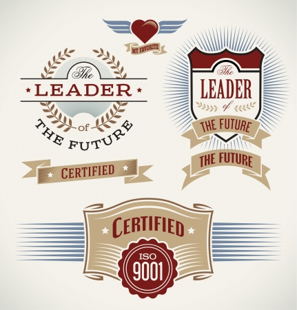 Set of badges and banners made in vintage style Stock Vector - 19319258
