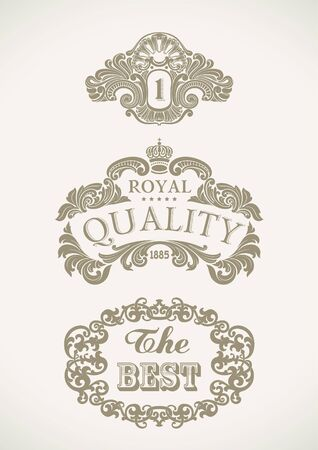 Set of Victorian styled labels  Editable vector illustration Stock Vector - 19319265