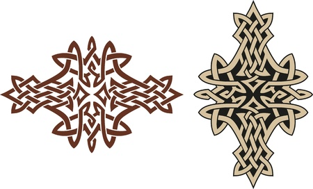 irish culture: Celtic tribal tatoo design  Good for an armband   Illustration