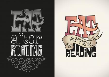 t shirt print: Set of t-shirt designs based on a handwritten lettering