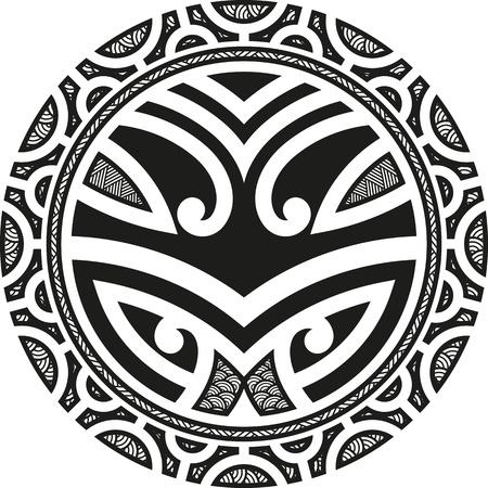 伝統的なマオリ タニファ タトゥーのデザイン 写真素材 - 21845378