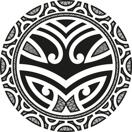 maori: Traditional Maori Taniwha tattoo design   Illustration