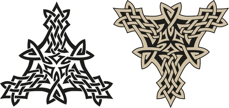 Traditional Celtic triskell  Tattoo pattern   Vector