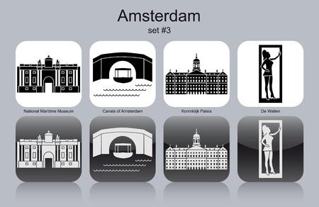 amsterdam canal: Landmarks of Amsterdam.