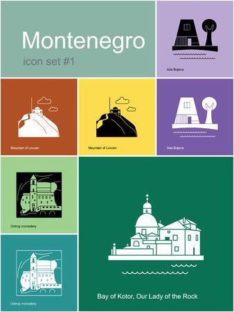 montenegro: Landmarks of Montenegro.