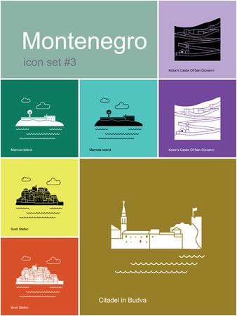 sveti: Landmarks of Montenegro. Illustration