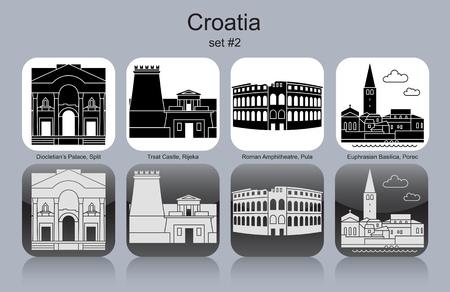 amphitheatre: Landmarks of Croatia. Illustration
