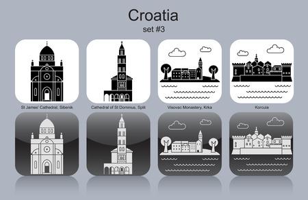 monasteries: Landmarks of Croatia.  Illustration
