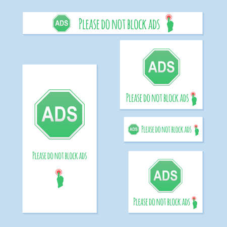 unblock: Please do not block ads web browser message instead banner. Illustration stop ad block for website