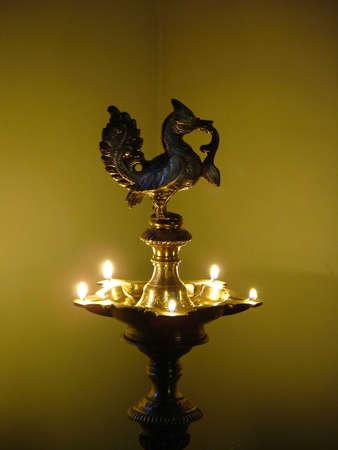 an oil lamp: India lámpara de aceite  Foto de archivo