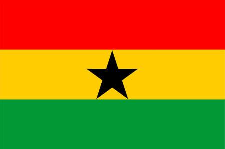 Bandera nacional Ghana, África  Foto de archivo - 526693