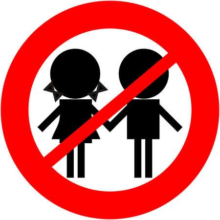 prohibido: los ni�os no permitido