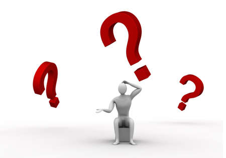 desperate man who is trying to find an answer  photo