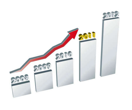 Annual trend chart Stock Photo