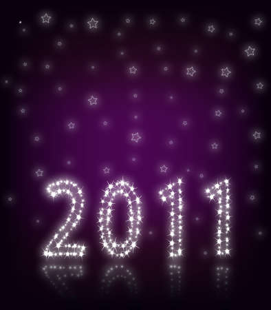 New Year 2011 Purple Stock Photo