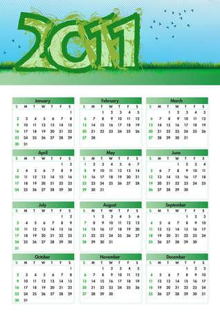Environmentalism Calendar 2011 Vector