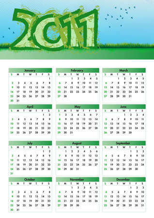 Environmentalism Calendar 2011 Illustration
