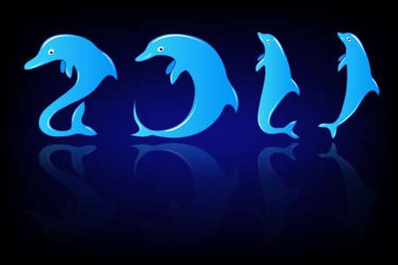 New Year in  dolphin style