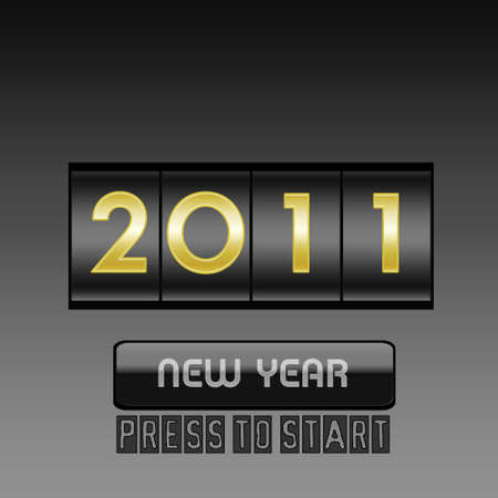 New Year counter Stock Vector - 8242492
