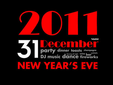 31 december 2011 - new years eve ad Vector