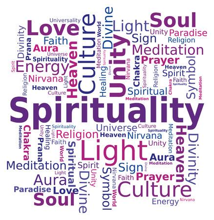Word Cloud - Spirituality 版權商用圖片 - 46455844