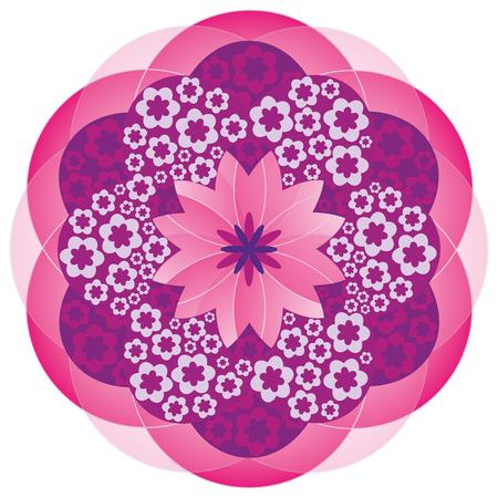 karma design: Flower Mandala in Pink Colors Illustration