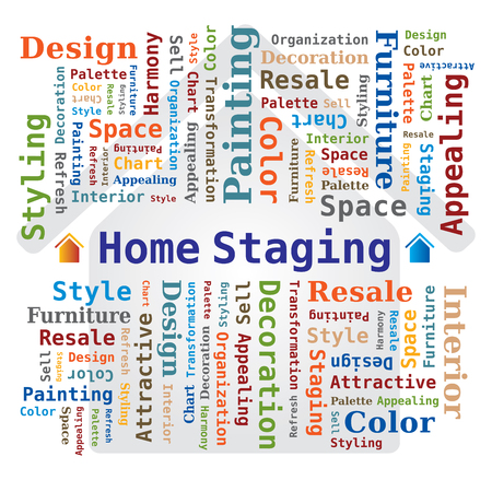 Word Cloud - Home Staging - Immobiliare Archivio Fotografico - 48557923